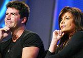Simon Cowell and Paula Abdul on American Idol 3