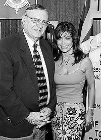 Sheriff Joe Arpaio met with Paula Abdul during her visit.