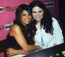 Meghan and Paula Abdul
