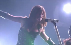 Image from Paula's live performance of I'm Just Here For The Music on American Idol