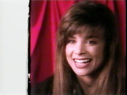 Still image of Paula Abdul in the Straight Up documentary